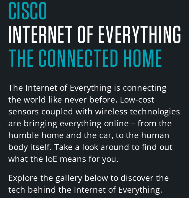 CISCO The Internet of Everything - The Connected Home | WIRED UK