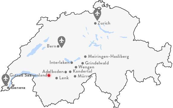 Gstaad-Saanenland Map