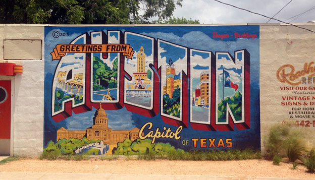Greeting from Austin Mural*